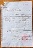 CALCUTTA COLONIE INGLESI  BIGLIETTO DI VIAGGIO KURRACHEE BOMBAY INDIA IN DATA 23/10/1863 CON MARCA DA BOLLO - Royaume-Uni