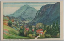 Kurhaus Alvaneu-Bad (950 M) - Kanton Graubünden - Künstlerkarte - GR Grisons