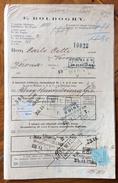 UNGHERIA  MARCHE DA BOLLO SU DOCUMENTO DI VIAGGIO SPEDIZIONIERE   E.BOLDOGHY  In POPRAD - VELKA DEL 10/11/1877 - Fatture & Documenti Commerciali