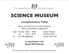 Ticket Entrée Gratuite - Science Museum London - The  National Museum Of Science And Industry - Tickets D'entrée