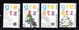 Nederland 2015 +2010 Port Betaald Gebruikt :  Greetz + Greetz Kerstmis TNT En PostNL Logo - 2013-... (Willem-Alexander)