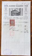 """ALBERGHI GRAND HOTEL """" KAISER ELISABETH """" VIENNA  FATTURA CON VEDUTA DEL 18/11/1899  CON MARCA DA BOLLO - Autriche"""