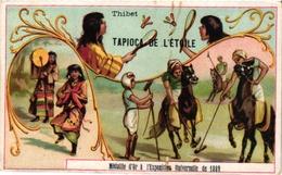 1 Trade Card Chromo  POLO On Horse Badminton  Pub Tapioca  C1899 THIBET - Parachutisme