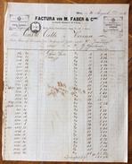 FATTURA PUBBLICITARIA M.FABER & C. VIENNA  DEL 30/8/1866  CON MARCA DA BOLLO - Autriche