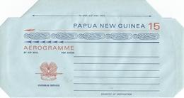 Papua New Guinea Bird Of Paradise Aerogramme Mint - Papoea-Nieuw-Guinea