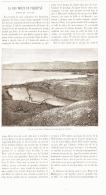 """LA MER MORTE DE PALESTINE """" NOTES DE VOYAGE  """"  1887 - Palestine"""