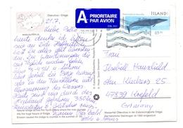 ISLAND, 1999, Michel 907, AK-Einzelfrankatur - 1944-... Republique