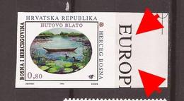 1994  6  BOSNIA BOSNA BOSNIEN KROATISCHE POST MOSTAR FLORA FAUNA ANATRA WWF RRR IMPERFORATE SELTEN NEVER HINGED - Unused Stamps