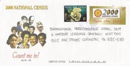 Papua New Guinea 2000 Population Census Coral Reef Postal Stationary Cover - Papoea-Nieuw-Guinea