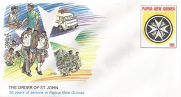 Papua New Guinea Blind Ambulance Order Of St John Postal Stationary Cover - Papoea-Nieuw-Guinea