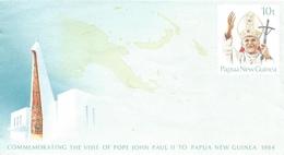Papua New Guinea 1984 Visit Pope John Paul II Postal Stationary Cover - Papoea-Nieuw-Guinea
