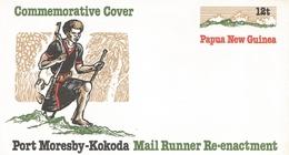 Papua New Guinea 1985 Mail Runner Postal Stationary Cover - Papoea-Nieuw-Guinea