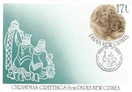 Papua New Guinea 1988 Christmas Madonna FDC Postal Stationary Cover - Papoea-Nieuw-Guinea