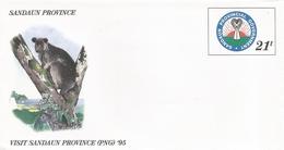 Papua New Guinea 1995 Tree Kangaroo Bird Of Paradise Postal Stationary Cover - Papoea-Nieuw-Guinea
