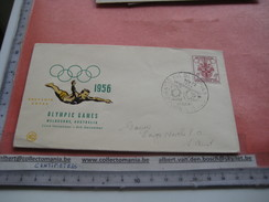 18 First Day Covers Olympic Games Collection Envelopes & Cards Jeux Olympique - PREMIERE Jour 1956 1960 Different Cachet - Olympische Spelen