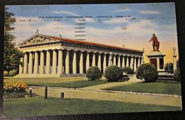 Alte Ansichtskarte USA Nashville Parthenon Ganzsache Gel. 1949 Nach Oberhausen - Monuments