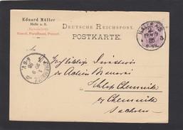 EDUARD MÜLLER.SPECIALITÄT:GASOEL,PARAFFINOEL,PUTZOEL.HALLE 1885. - Deutschland
