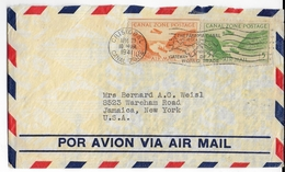 "PANAMA CANAL ZONE - 1941 - ENVELOPPE AIRMAIL De CRISTOBAL => USA - MARITIME : PAQUEBOT ""SS SANTA LUCIA"" - Panama"