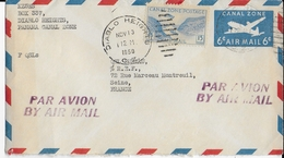 PANAMA CANAL ZONE - 1950 - ENVELOPPE AEROGRAMME De DIABLO HEIGHTS => MONTREUIL - Panama
