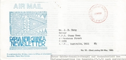 Papua New Guinea 1980 Konedobu Unfranked Postage Paid Cover - Papoea-Nieuw-Guinea