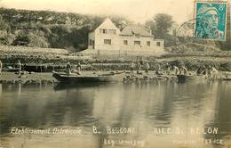 Dép 29 - Ostréiculture - Riec Sur Belon - Etablissement Ostréicole B. Bescond - Beg Lanneguy - Carte Photo - état - Autres Communes