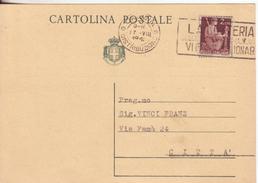 4-Intero Postale Luogotenenza 60c.Re V.E.III Pubblicitario Al Verso RICOPERTO Con L.2 Democratica-Catania X Città-1948 - Storia Postale