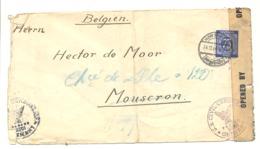 MARCOPHILIE - Lettre D' Allemagne Vers MOUSCRON En 1947 - Censure Américain - Guerre 40/45 (b201) - Bizone