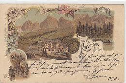 Gruss Vom Karer-See Hotel - Litho - 1898 - Oesterr.Frankatur     (A28-120625) - Autres Villes