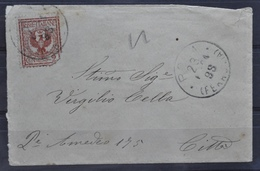 STORIA POSTALE ROMA - BUSTA VIAGGIATA 1904 - 1900-44 Victor Emmanuel III