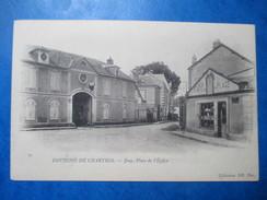 EURE ET LOIR  28  JOUY  -  PLACE DE L'EGLISE   -  CAFE        TTB - Jouy