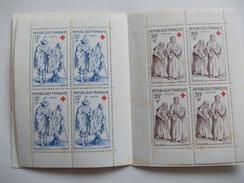 TIMBRE Croix Rouge Aveugles Et Mendiants Carnet De 8 Timbres 1957 - Francia