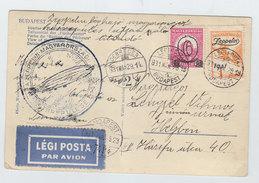 Hungary ZEPPELIN POSTCARD 1929