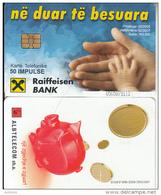 ALBANIA(chip) - Raiffeisen Bank, Albtelecom Telecard 50 Units, 02/05, Used