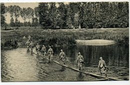 Editeur Georges Lang Passerelle Légère D'infanterie - Manoeuvres