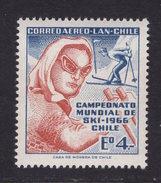 Chile 1966. Campeonato Mundial De Esqui. MNH **. - Chili