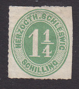 Schleswig-Holstein, Scott #8, Mint No Gum, Number, Issued 1864 - Schleswig-Holstein