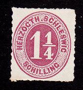 Schleswig-Holstein, Scott #11, Mint Hinged, Number, Issued 1865 - Schleswig-Holstein