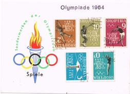 23516. Tarjeta ALBANIA 1964. Serie Olimpiada 64. Olimpic Games - Albanien