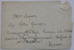 STORIA POSTALE ROMA - BUSTA VIAGGIATA 1918 - 1900-44 Victor Emmanuel III