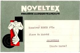 PUBLICITE  NOVELTEX. HABILLEMENT. COL De CHEMISES. 1932.  CARTE PUBLICITAIRE . - Publicité
