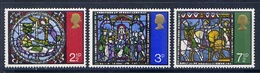 THE GREAT BRITAIN 1971 587-589 STAINED GLASS - Vetri & Vetrate