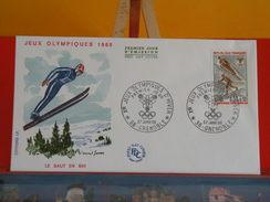France > FDC > 1960-69 > Jeux Olympiques D'Hiver, 38 Grenoble - 27.1.1968 - 1er Jour FDC - Coté 1,50 € - 1960-1969