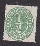 Schleswig-Holstein, Scott #19, Mint No Gum, Number, Issued 1865 - Schleswig-Holstein