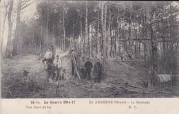MILITARIA---EN ARGONNE---la Barricade--la Guerre 1914-17---voir 2 Scans - Guerra 1914-18