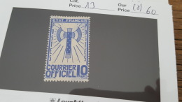 LOT 346317 TIMBRE DE FRANCE NEUF(*) N°13
