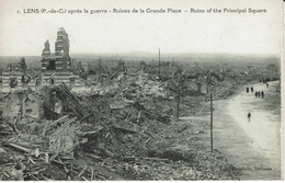 LENS-RUINES DE LA GRAND'PLACE-guerre 1914-1918 - Lens