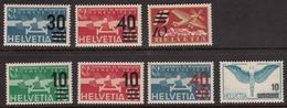Switzerland 1935-38 Air Mail, Mint No Hinge/mounted, See Notes, Sc# C19-C25 - Ungebraucht
