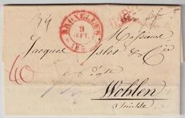 """1833 """" BRUXELLES """" Pour La Suisse  , #7839 - 1830-1849 (Belgique Indépendante)"""
