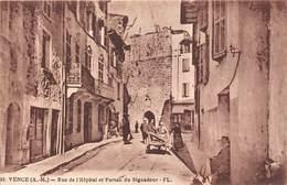 06-VENCE-RUE DE L'HÔPITAL ET PORTAIL DU SIGNADOUR - Vence