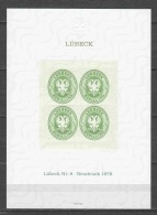 Germany Lubeck Mi 8 Neudruck 1978